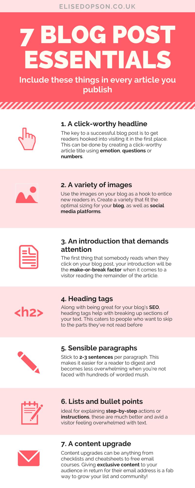 blog post essentials infographic