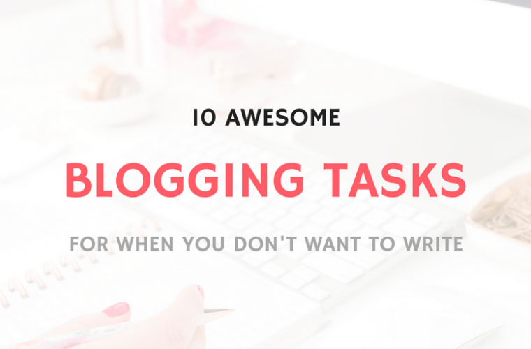 BLOGGING TASKS