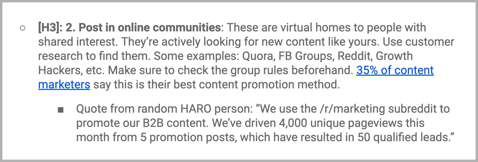 how to use haro for content research